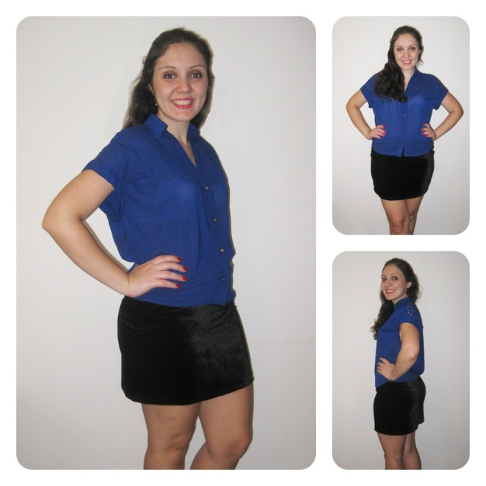 Look Saia Black Velvet + Ibiza Azul