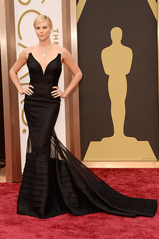 Charlize Theron, in Dior Haute Couture
