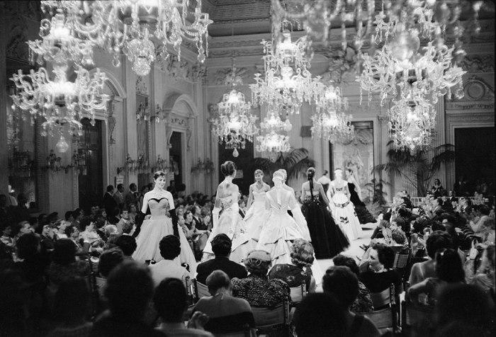 Desfile na Sala Bianca em 1955